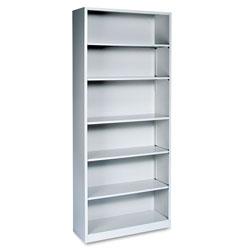 Hon Metal Bookcase, Six-Shelf, 34-1/2w x 12-5/8d x 81-1/8h, Light Gray