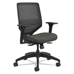 Hon Solve Series Mesh Back Task Chair, Supports up to 300 lbs., Ink Seat, Black Back, Black Base