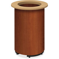 Hon Laminate Cylinder Table Base, 18 in dia. x 28h, Cognac