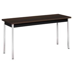 Hon Utility Table, Rectangular, 60w x 20d x 29h, Mocha/Black