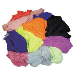 Hospeco New Colored Knit Polo T-Shirt Rags, Assorted Colors, 10 Pounds/Bag