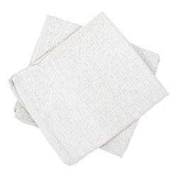 Hospeco Counter Cloth/Bar Mop, White, Cotton, 12/Bag, 5 Bags/Carton