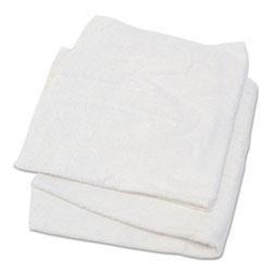 Hospeco Woven Terry Rags, White, 15 x 17, 25 lb/Carton