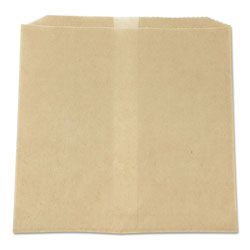 Hospeco Waxed Napkin Receptacle Liners, 8.5 in x 8 in, Brown, 500/Carton