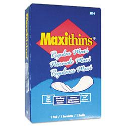 Tampax Maxithins Vended Sanitary Napkins, 100/Carton
