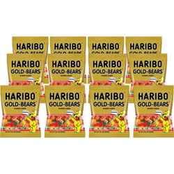 Haribo Gummi Candy, Gummi Bears, Original Assortment, 5oz Bag, 12/Carton