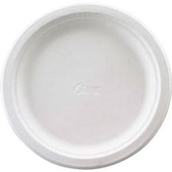 Chinet Recycled 6.75 in Paper Plates, White, Pack of 125