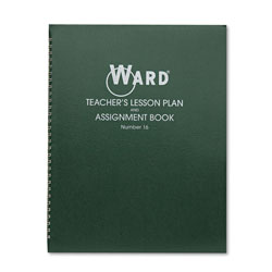 The Hubbard Company Lesson Plan Book, Wirebound, 6 Class Periods/Day, 11 x 8-1/2, 100 Pages, Green