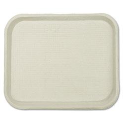 Chinet Savaday Molded Fiber Food Trays, 9 x 12 x 1, White, Rectangular