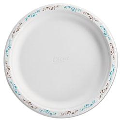 Chinet Molded Fiber Dinnerware, Plate, 10 1/2 inDia, WH, Vines, 125/Pack, 4 Packs/Carton