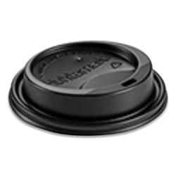 Huhtamaki Hot Cup Lids, Fits 10-24 oz Hot Cups, Dome Sipper, Black, 1,000/Carton