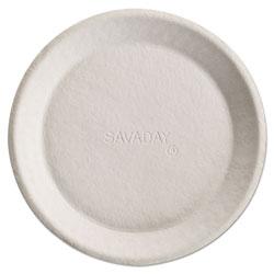 Chinet Savaday Molded Fiber Plates, 10 in, Cream, Round, 500/Carton
