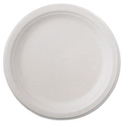 Chinet Classic Paper Dinnerware, Plate, 9 3/4 in dia, White, 125/Pack, 4 Packs/Carton