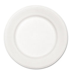 Chinet Paper Dinnerware, Plate, 10 1/2 in dia, White, 500/Carton
