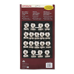 X-Acto Bulldog Magnetic Clips, 0.44 in, Nickel-Plated, 18/Box