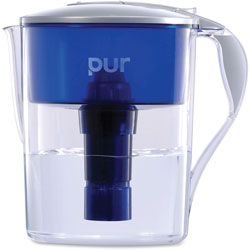 Honeywell 40 Gal Pitcher, Pur Led, 11.25 in x 10.63 in x 6.75 in, Blue/Gray