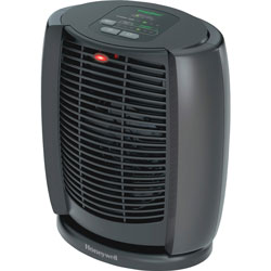 Honeywell Personal Heater, Digital, 3 Settings, 7-1/8 in x 10-3/8 in x 11-5/8 in, BK