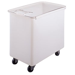 Cambro IB44148 42.5 Gallon / 680 Cup White Flat Top Mobile Ingredient Storage Bin with Sliding Lid