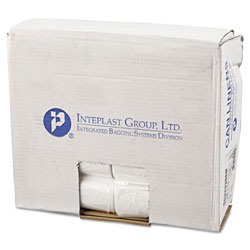 InteplastPitt High-Density Commercial Can Liners, 16 gal, 6 microns, 24 in x 33 in, Natural, 1,000/Carton