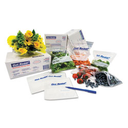 InteplastPitt Get Reddi Food & Poly Bag, 8 x 3 x 15, 4.5-Quart, 0.68 Mil, Clear, 1000/Carton