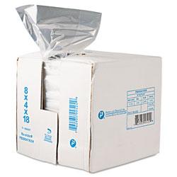 InteplastPitt Food Bags, 8 qt, 0.68 mil, 8 in x 18 in, Clear, 1,000/Carton