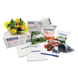 InteplastPitt Get Reddi Food & Poly Bag, 12 x 8 x 30, 24-Quart, 1.00 Mil, Clear, 500/Carton