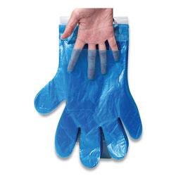 InteplastPitt Reddi-to-Go Poly Gloves on Wicket, One Size, Clear, 8,000/Carton