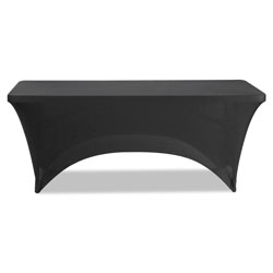 Iceberg Stretch-Fabric Table Cover, Polyester/Spandex, 30 in x 72 in, Black