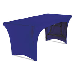 Iceberg Stretch-Fabric Table Cover, Polyester/Spandex, 30 in x 72 in, Blue