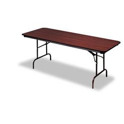 Iceberg Premium Wood Laminate Folding Table, Rectangular, 60w x 30d x 29h, Mahogany