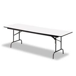 Iceberg Premium Wood Laminate Folding Table, Rectangular, 72w x 30d x 29h, Gray/Charcoal