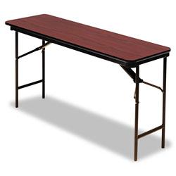 Iceberg Premium Wood Laminate Folding Table, Rectangular, 72w x 18d x 29h, Mahogany