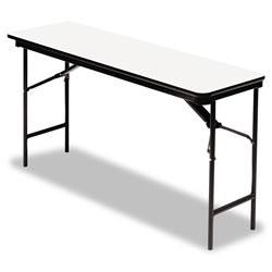 Iceberg Premium Wood Laminate Folding Table, Rectangular, 72w x 18d x 29h, Gray/Charcoal