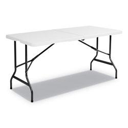 Iceberg IndestrucTables Too 1200 Series Bi-Fold Table, 60w x 30d x 29h, Platinum