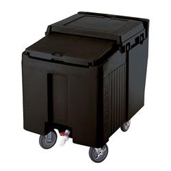 Cambro Ice Caddy 125 Pound Capacity 2 Fixed 2 Swivel 1 Brake Black