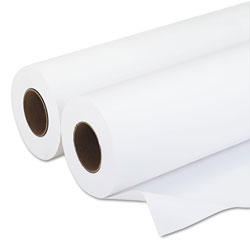 Iconex Amerigo Wide-Format Paper, 3 in Core, 20 lb, 36 in x 500 ft, Smooth White, 2/Pack