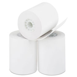 Iconex Direct Thermal Printing Paper Rolls, 0.45 in Core, 2.25 in x 85 ft, White, 50/Carton