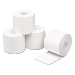 Iconex Direct Thermal Printing Paper, 2.3mil, 0.45 in Core, 2.25 in x 200 ft, White, 50/Carton