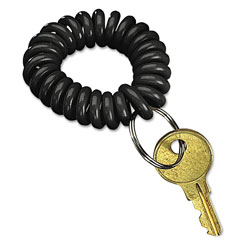 SecurIT® Wrist Key Coil Wearable Key Organizer, Flexible Coil, Black