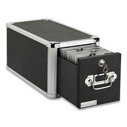 Vaultz 1-Drawer CD File Cabinet, Holds 165 Folders or 60 Slim/30 Standard Cases, Black