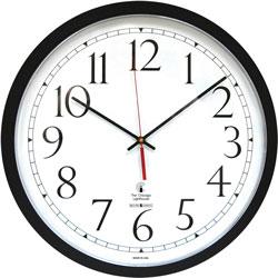 Chicago Lighthouse Selfset Clock, 16-1/2 in D, Black/White