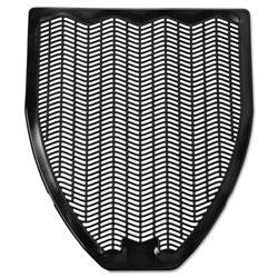 Impact Disposable Urinal Floor Mat, Nonslip, Fresh Blast Scent, 17 1/2 x 20 3/8, Black, 6/Carton