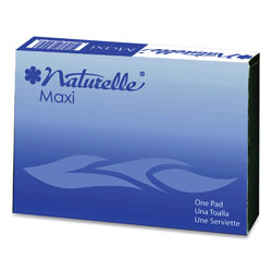 Impact Naturelle Maxi Pads, #4 For Vending Machines, 250 Individually Wrapped/Carton