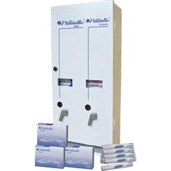 Impact Dual Vendor Hygiene Dispenser, 10-3/4 in x 5-1/2 in x 24 in, White