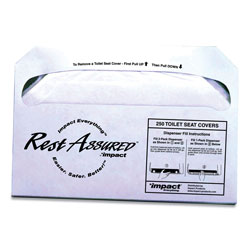 Impact Rest Assured Seat Covers, 250/Pack, 20 Packs/Carton