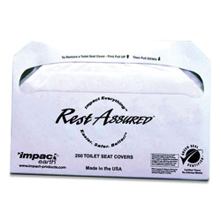 Impact Rest Assured Impact Earth Seat Covers, 250/Pack, 20 Packs/Carton