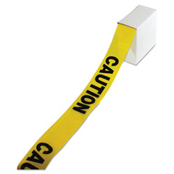 Impact Site Safety Barrier Tape,  inCaution in Text, 3 in x 1000ft, Yellow/Black