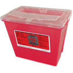 United 7352 Two Gallon Sharps Container, 8 1/2w x 7 1/4d x 10h