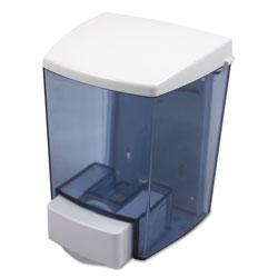 Impact ClearVu Encore Liquid Soap Dispenser, 30 oz, 4.5 in x 4 in x 6.25 in, Black/White