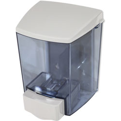 Impact Soap Dispenser, 42oz., 12/CT, White/Clear